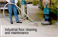 Industrial floor cleaning and maintenance